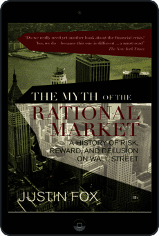 Cover of The Myth of the Rational Market by Justin Fox