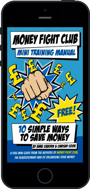 Cover of Money Fight Club Mini Training Manual (Ebook - phone) by Anne Caborn andLindsay Cook