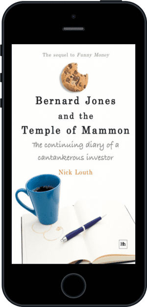 Cover of Bernard Jones and the Temple of Mammon (Ebook - phone) by Nick Louth