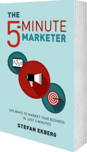 Cover of The 5-Minute Marketer by Stefan Ekberg