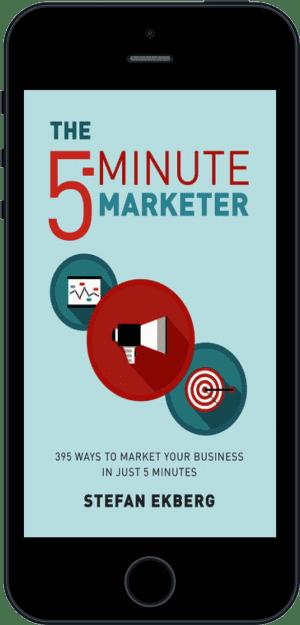 Cover of The 5-Minute Marketer (Ebook - phone) by Stefan Ekberg