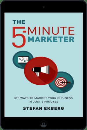 Cover of The 5-Minute Marketer (Ebook - tablet) by Stefan Ekberg