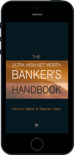 Cover of The Ultra High Net Worth Banker's Handbook (Ebook - phone) by Heinrich Weber and Stephan Meier