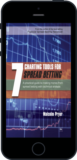 Cover of 7 Charting Tools for Spread Betting (Ebook - phone) by Malcolm Pryor
