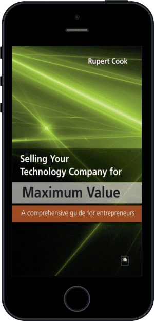 Cover of Selling Your Technology Company for Maximum Value (Ebook - phone) by Rupert Cook