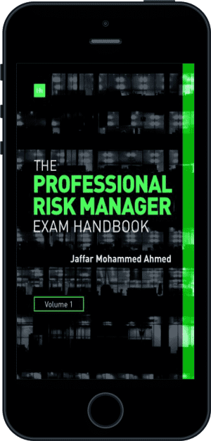 Cover of The Professional Risk Manager Exam Handbook (Ebook - phone) by Jaffar Mohammed Ahmed